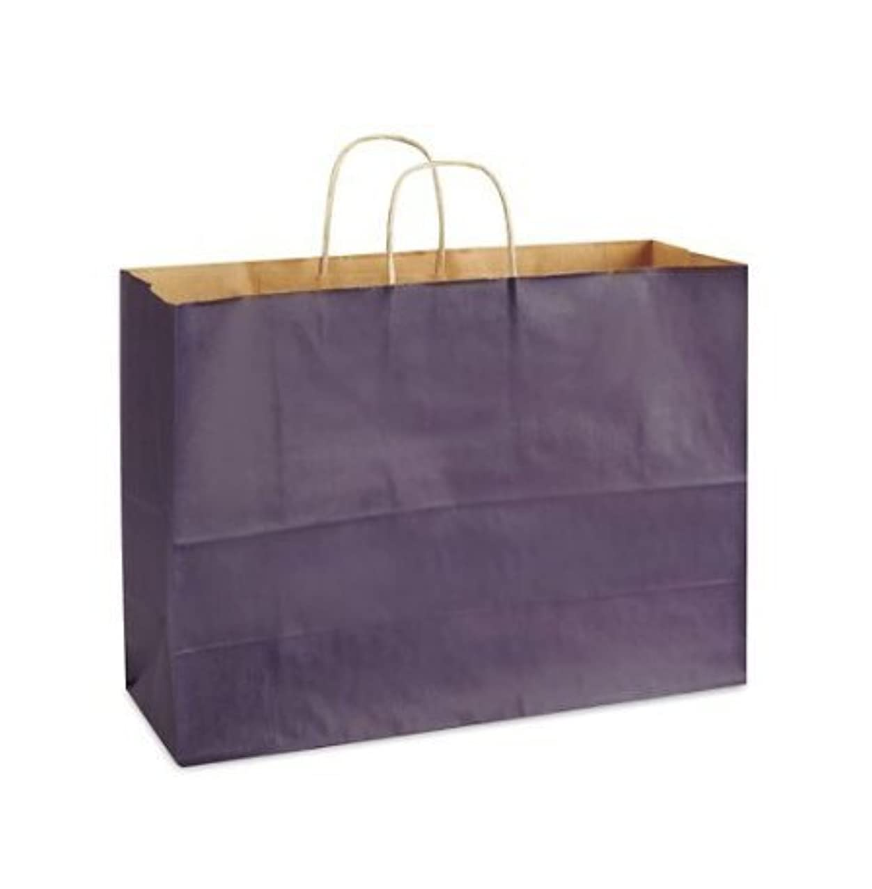 Purple Bags, Extra Large Kraft Paper Gift Wrap Shopping Bags, (Vogue Size 16W x 12H x 6), 25 Bags, Made in USA