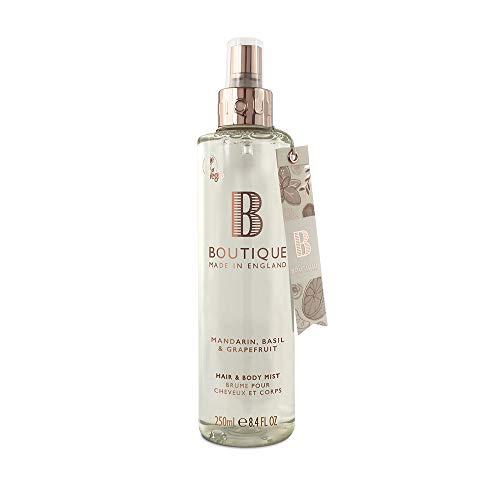 Boutique Mandarin, Basil & Grapefruit Vegan Hair & Body Mist 1 x 250ml