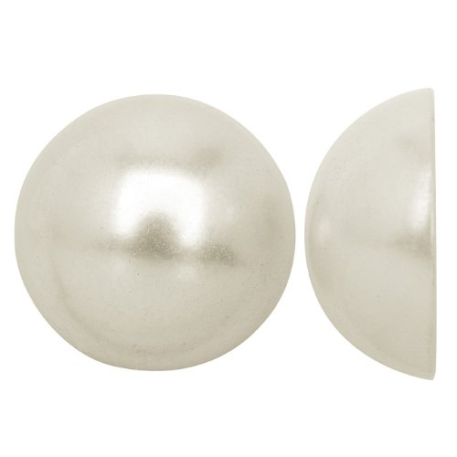 Beadaholique Acrylic Faux Pearl Flatback Cabochons 20mm - Pearlized White (6)