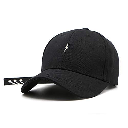mlpnko Cappello da Sole Personalizzato con parafulmine Ricamato Lightning Outdoor Sun Hat Nero Regolabile