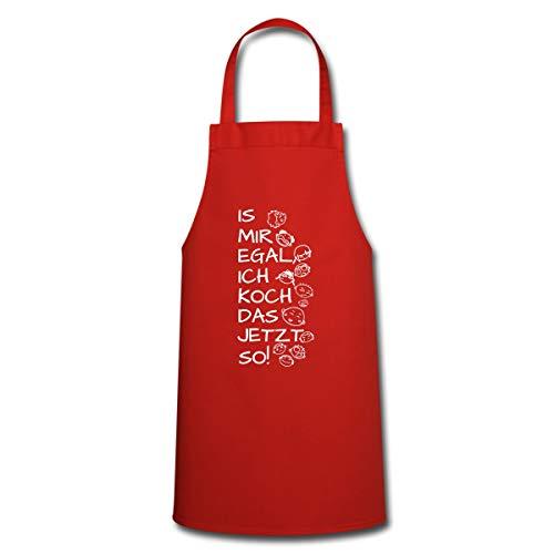 Spreadshirt Is Mir Egal Ich Koch Das Jetzt So Kochschürze, Rot