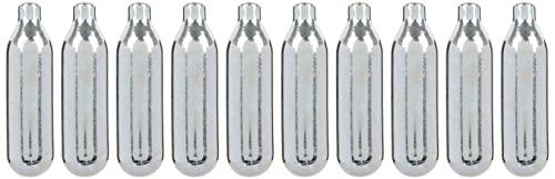 MASTRAD - Lot de 10 Cartouches N2O pour Siphon – Sauces Crèmes Chantilly Mousses Chaudes ou Froides – Recharges universelles - Acier 100% recyclable - 10x8g - 6,4x1cm