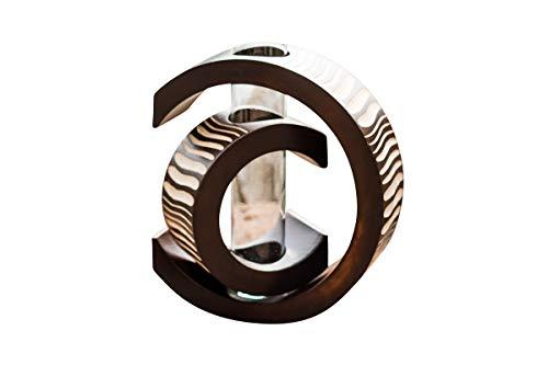 thai4living Vase Holzvase Designvase Holz Deko Dekoration Dekovase Tischvase Mangoholz Braun C-Form, Klein, 20x6,5x17cm