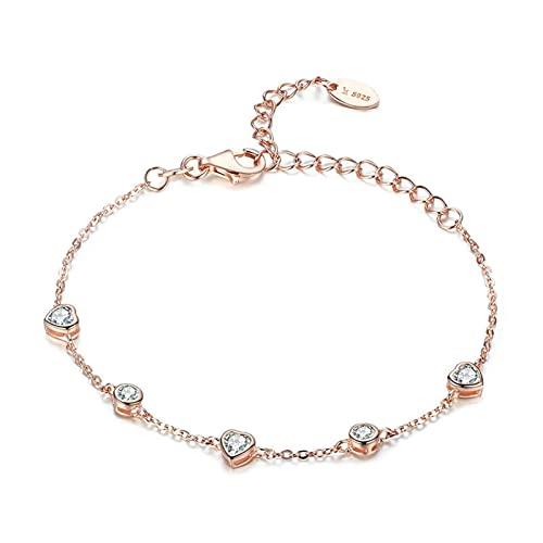 mimiliy Pulseras 925 Sterling Silver y galvollas de Oro Color de Oro Bracelet Pulsera de Las Mujeres Regalo de joyería