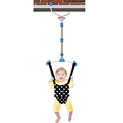 OUTING MAN Door Jumper Swing Bumper Jumper Exerciser Set with Door Clamp Adjustable Strap for Toddler Infant 6-24 Months