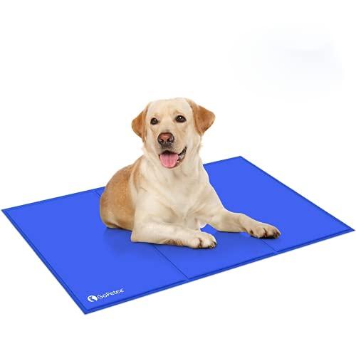 GoPetee Alfombrilla refrescante para Mascotas Cama de Perro y Gato para Verano Animales Manta de Dormir Fresco Cojín,75*120cm