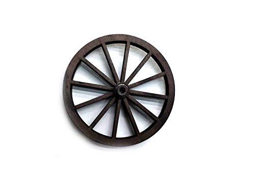 Generico 1 Rad für Bollerwagen aus Holz, 11 cm Durchmesser, lasergeschnitten, für Krippen, Handwerk Gia