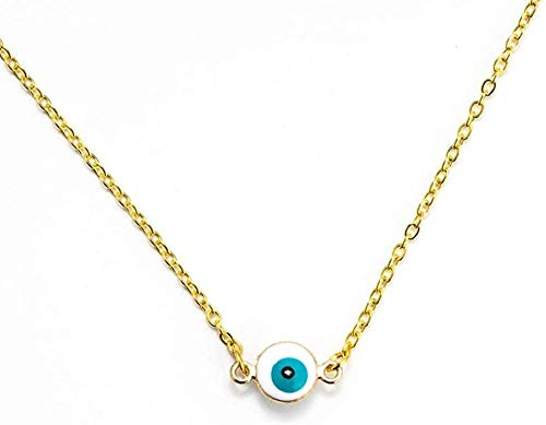 NC110 Pendant Necklace Mini Necklace Colorful Beaded Layered Necklace for Women Girl