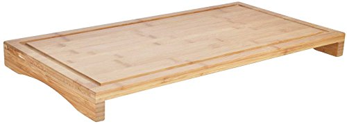 SIDCO Schneidebrett Abdeckplatte Herdabdeckplatte Servierbrett Küchenbrett Bambus