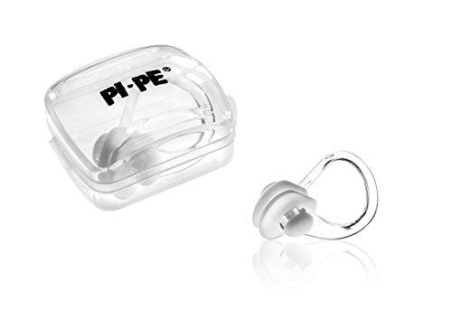 PI-PE Nasenklammer zum Schwimmen - verhindert Wasser in der Nase - leicht aufsetzbar - kein Drücken - wasserdicht aus Silikon - Nasenklemme mit Aufbewahrungsbox