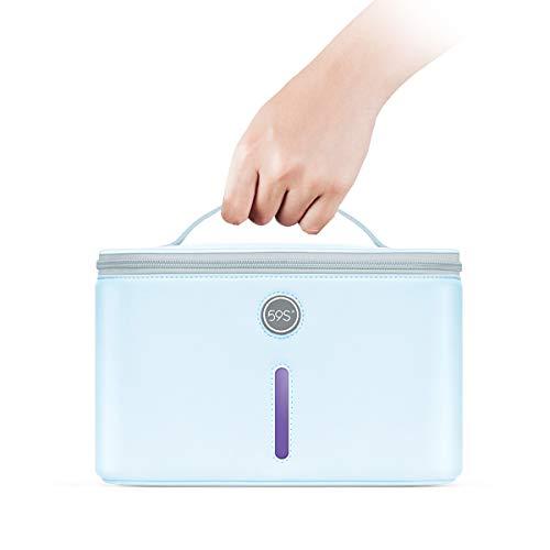 Esterilizador UV, 59S UV Esterilizador Bolsa LED con 24 Perlas de Lámpara Esterilización Rápida 99.9%, Adecuado Para Ropa Interior, Tableta, Teléfonos Celulares, Ratón, Vidrio, Gafas, etc