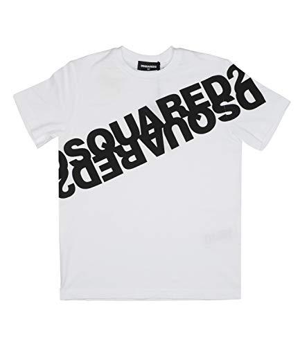 DSQUARED2 Bambino DQ03WA D00W5 Bianco T-Shirt Estate 14 Anni