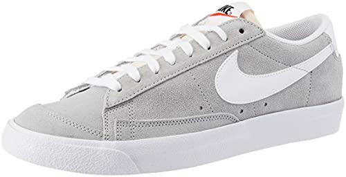 Nike Blazer Low '77, Scarpe da Basket Uomo, lt Smoke Grey/White-White, 42 EU