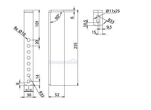 Vertikale Halter für LKW Staukasten Daken Welvet und Daken Just, Montagesatz, Daken VH401 - 2