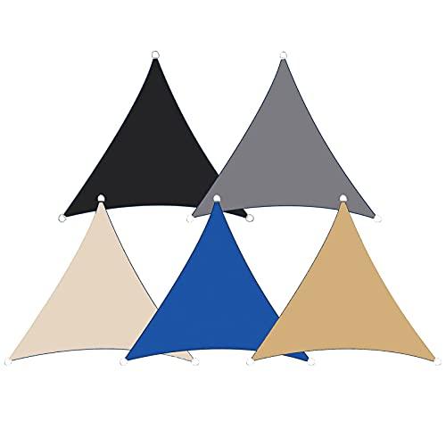 Yeanee Triángulo Sun Shade Sail 2x2 m para fiesta playa verano Cool protector solar toldo 5 color 90% prueba UV impermeable resistencia al desgaste