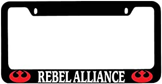 Black Metal License Plate Frame Rebel Alliance Logo (Red) Auto