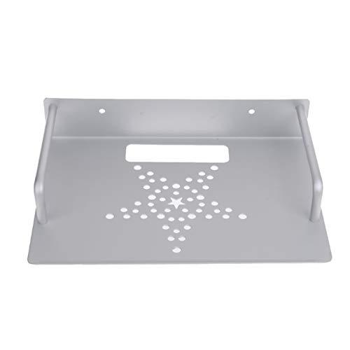 Rack de enrutador wifi Montaje de pared Almacenamiento TV Caja enrutador Estante Estante Juego de mesa Soporte de soporte Mini PC DVD Player Soporte Rack Aluminio Espacio de una sola capa Caja de alma
