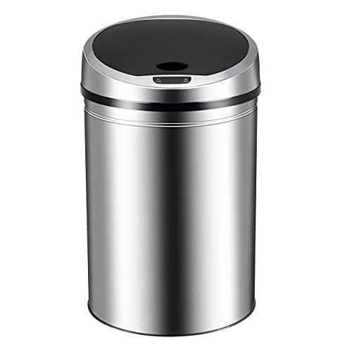 Ribelli Pattumiera a sensore automatico pattumiera cestino rifiuti in acciaio inox 30 40 50 60 l, colorazione:cromo, volume:30 litri