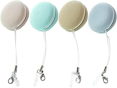 4 PCS Limpiador de anteojos Paño de silicona Lente de lentes Toallitas Cepillo de limpieza, Toallita limpiadora de pantalla de teléfono móvil Macaron, Herramienta de limpieza de cepillo suave