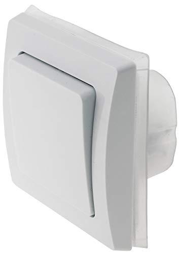 Delphi - Interruptor para exteriores (IP44, 230 V, empotrado), color blanco