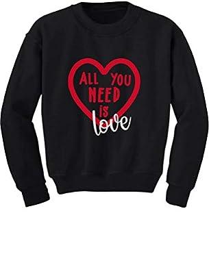 Tstars - All You Need is Love - Valentine's Day Toddler/Kids Sweatshirt 2T Black
