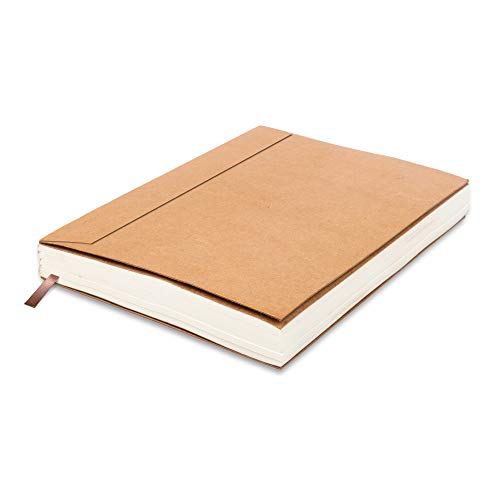 Lined Paper Refill Notebooks - for Moonster Refillable Leather Journal – Eco Friendly Acid-Free & Tree-Free Recycled Cotton Sheets A5 Ruled Notepad 8.25 x 5.75 Inches with 220 Soft Pages and Bookmark
