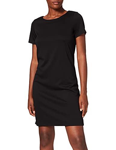 Vila Damen Vitinny New S/S Dress - Noos Kleid, Schwarz, L EU