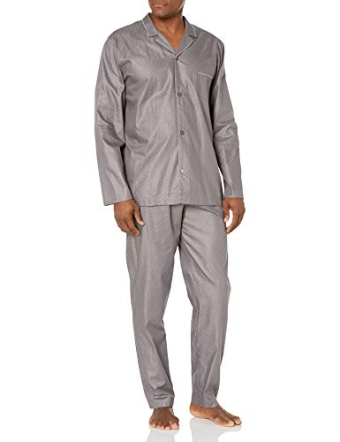 Hanro Herren Maxim Long Sleeve Pajama Pyjama Set, Minimales Dreieck, Small