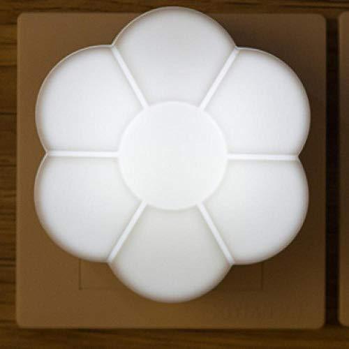 Nachtlicht Niedliche Bunte Pflaumenblüte Kleine Warme Led-Nachtlichtsteuerung Geschenk Nachtlichteinsatz Elektrische Dekoration Home Baby Schlafzimmer Lampe Weiß