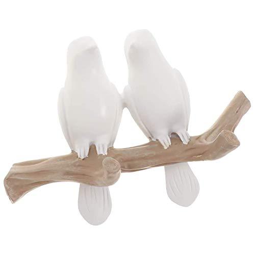 YUDIZWS Forma de pájaro Montaje en la Pared Hanger Hoja de Perchero Hogar Decoración Hogar Sombrero Ropa Bolsa Bufanda Teclas Organizador Almacenamiento Perchas,2