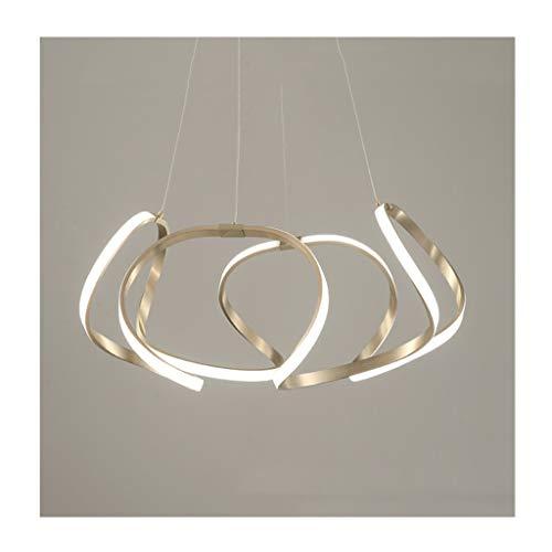 Personalidad de lámpara LED de dormitorio creativa, moderna, minimalista, restaurante, sala de estudio durante la luz (color 80 cm)