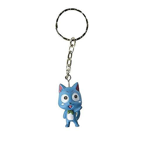 Fairy Tail Porte-clés Figurine 3D Happy - 3,5 cm