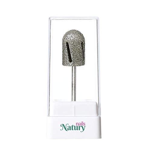 Natury Nails Fresa de Diamante para Torno de uñas. Broca para Pedicura Callosidades y Asperezas. Grano Medio (Grano Grueso)