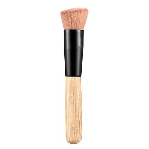 Maquiagem Multifonction Maquillage Brosse Fibre Douce Fond Plat Base Poudre Incline Brosse Outil Cosmétique