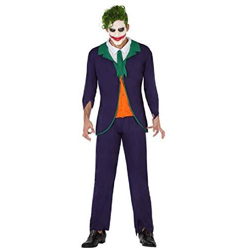 Atosa-57678 Disfraz Payaso para Hombre Adulto, Color Verde, M-L (57678)