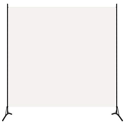 vidaXL Raumteiler Freistehend Trennwand Paravent Umkleide Sichtschutz Spanische Wand Raumtrenner 1-TLG. Weiß 175x180cm Eisen Stoff