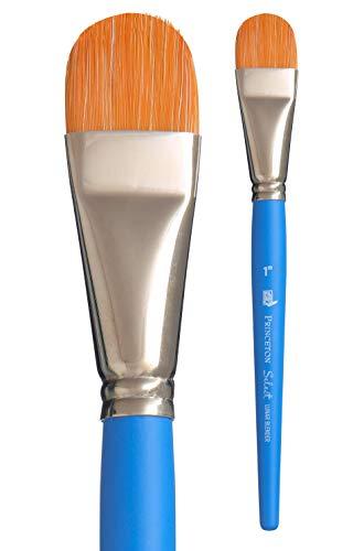 Princeton Art & Brush pennelli misti Select Artiste per olio, acrilico, acquerello Serie 3750, Blue, Lunar Blender 1 Inch