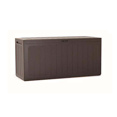 Prosperplast Gartenbox 280 Liter Boardebox aus Kunststoff in dunkler 116 x 43,3 x 55 cm, Ocker dunkel, 280 L
