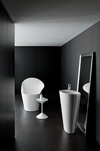 Laufen Palomba Waschtisch freistehend, 1 Hahnloch, mit Überlauf, 520x395x900, Farbe: Weiß
