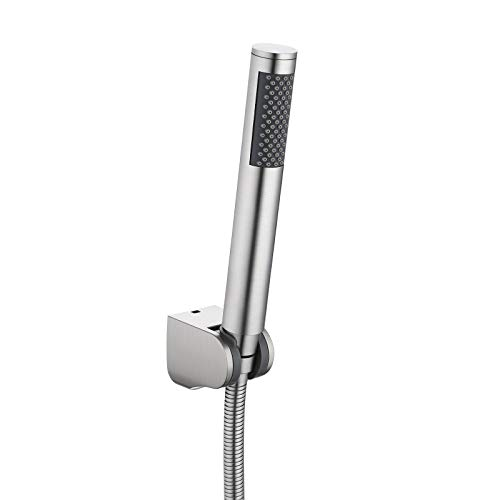 Product Image of the KES Bathroom Handheld Shower Head with Extra Long Hose and Bracket Holder Brushed Stainless Steel, LP150-BS