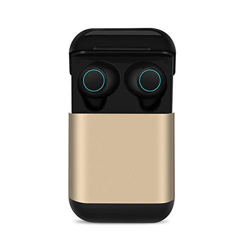 TWS Wireless Bluetooth 4.2 Kopfhörer Ohrhörer mit Ladeschale, Creamon TWS Wireless Bluetooth 4.2 Kopfhörer Ohrhörer mit Ladeschale Kopfhörer Stereo Headset Bluetooth Ohrhörer mit Mikrofon Golden