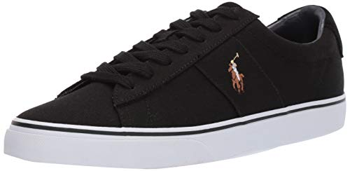 Polo Ralph Lauren Mens Sayer, Black, 7 D US
