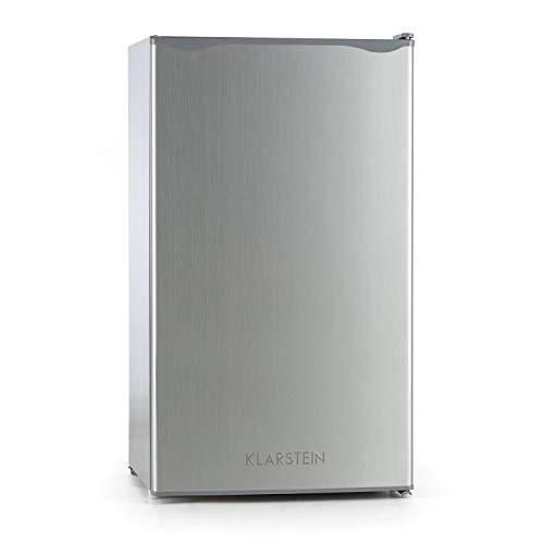 Klarstein Alleinversorger - Frigorifero Combinato, Freezer, Classe A+, Temperatura Regolabile, Porta Intercambiabile, Volume Frigo: 90 L, Volume Congelatore: 7 L, Grigio