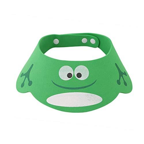 RuitingGorro Ducha para Bebé Sombrero Ajustable del Baño Champú Casquillo Infantil Suave Creativo Aniñaño para niños para Lavarse el Pelo, Verde