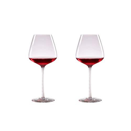ZHIHUI Copas de Vino Tintas Premium Copas de Vino de Cristal Conjunto Libre de Plomo de 2 Copa de Vino Gran Capacidad 680ml / 22.9oz (Color : Clear)