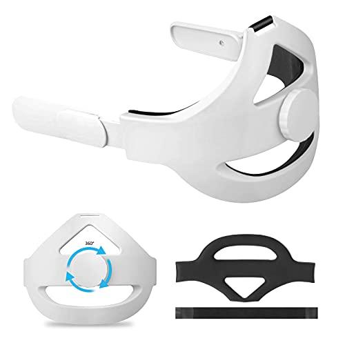Vakdon Regolabile Cinturino per Testa per Oculus Quest 2, Sostituzione Della per la Cinturino Elite [Espandi l area dei Contatti] Riduci lo Stress Migliora il Comfort, Oculus Quest 2 Accessori
