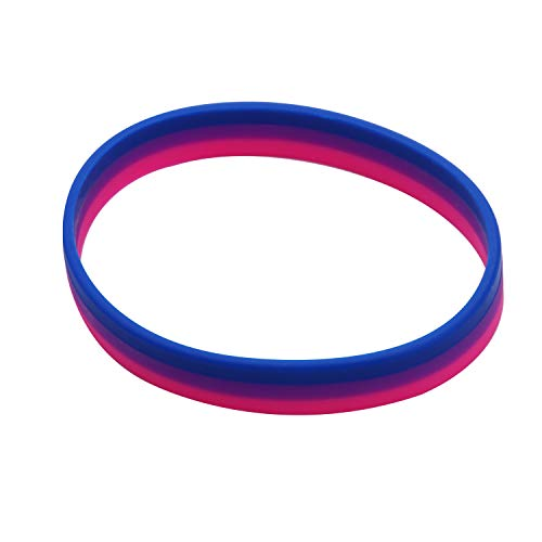 CHOORO LGBT Bracelet Gay Pride Bracelets Rainbow Silicone Rubber Wristbands LGBTQ Jewelry Gay Pride Gifts (Bisexual rope)