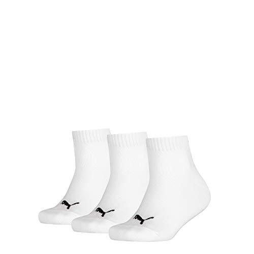 PUMA Quarter 3p Sport, Bianco (White 300), Unica (Taglia Produttore: 27/30) (Pacco da 3) Bambino