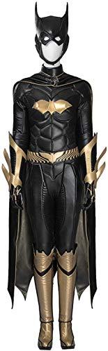 XDHN Batman Arkham Knight Batgirl kostuum vrouwen Adult Bodysuit Onesies mantel handschoenen schoenen masker Halloween Movie Game Cosplay kostuum Feest, rekwisieten, zwart-custom maat