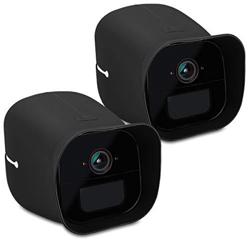 kwmobile 2X Hülle kompatibel mit Arlo Go - Silikon Security Camera Cover Schutzhülle Kamera - Schwarz